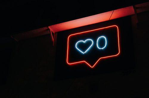 """Neon sign with """"zero likes"""""""