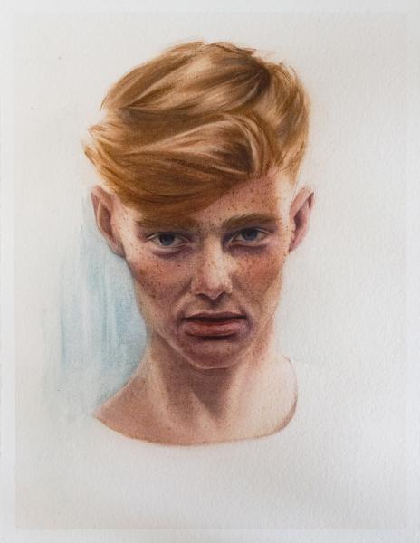 Portrait study (male head study)